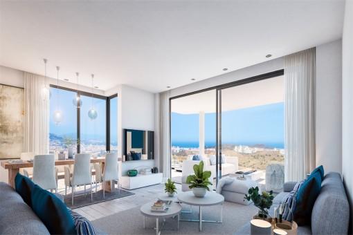 Bauprojekt: 2 Schlafzimmer Apartment neben dem Golfplatz und sehr nahe am Strand in Mijas