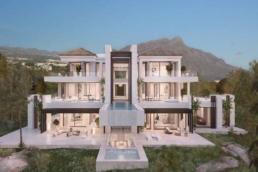 Luxusvilla in privilegierter Lage und mit außergewöhnlichem Meerblick in Los Almendros, Benahavis