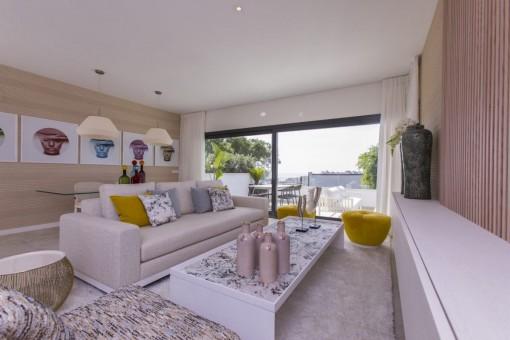 Strandnahe, moderne Erdgeschosswohnung in Planungsphase mit 3 Schlafzimmern in Estepona