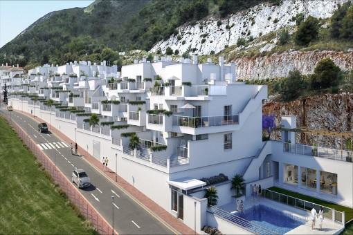 Zwei Schlafzimmer Erdgeschoss-Wohnung mit erstaunlicher Aussicht in Benalmadena Dorf
