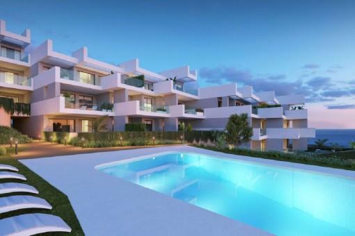 Wundervolles Penthouse mit 3 Schlafzimmern und herrlicher Aussicht in Manilva