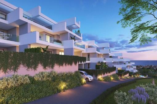Schöne Wohnung mit 3 Schlafzimmern und herrlicher Aussicht in Manilva