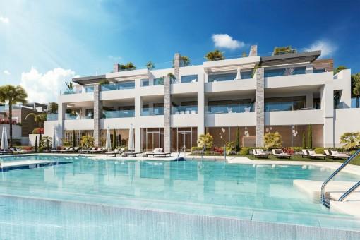 Moderne Erdgeschosswohnung mit 3 Schlafzimmern in Artola, Marbella