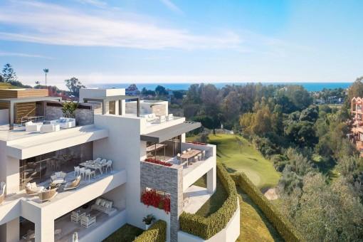 Schöne Doppelhaushälfte mit 4 Schlafzimmern an der New Golden Mile in Estepona