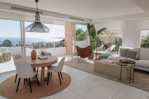Atemberaubende 4 Schlafzimmer Villa mit herrlichem Blick auf das Meer als Bauprojekt in Benalmadena