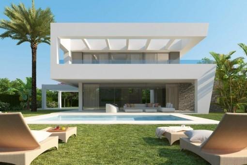 Villa kaufen in marbella neubau mit pool und meerblick for Moderne villen deutschland