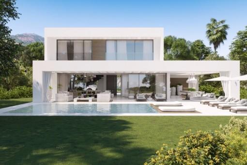 Moderne und neue Villa in Mijas