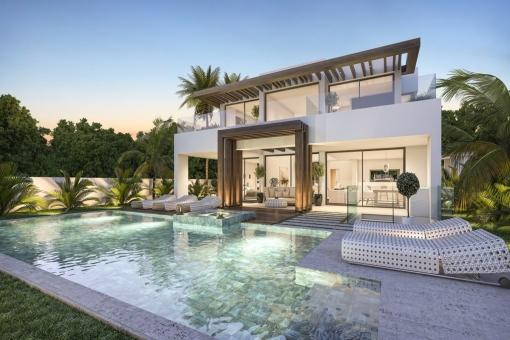 Spektakuläre Luxusvilla in der Wohnanalage Camarate Golf in Estepona