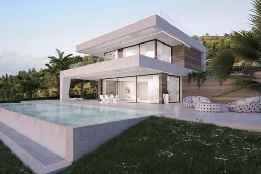 Luxuriöse Villa von höchster Qualität, auf 2 Ebenen in Estepona
