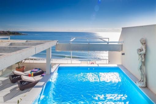 Penthouse in unmittelbarer Meer- und Strandnähe und mit Panoramablick in Estepona